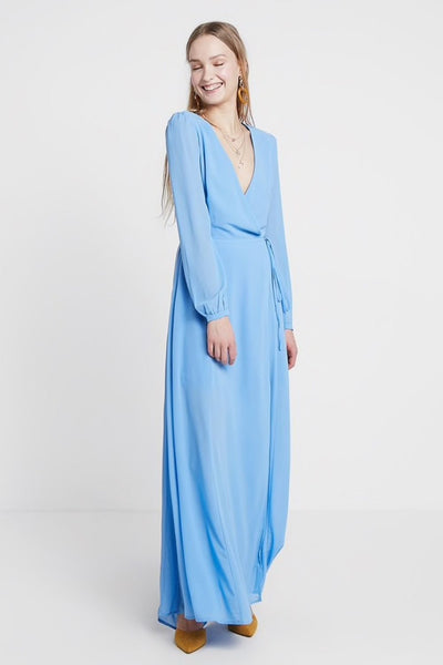 Glamorous Blue Maxi Dress - Troublemaker.gr