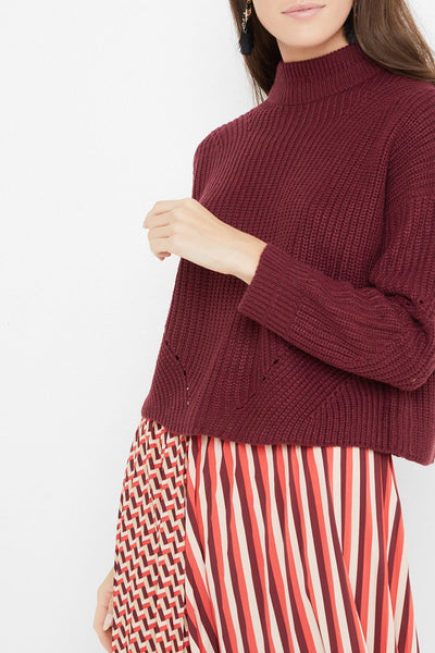 Only Riley Burgundy Pullover Knit - Troublemaker.gr