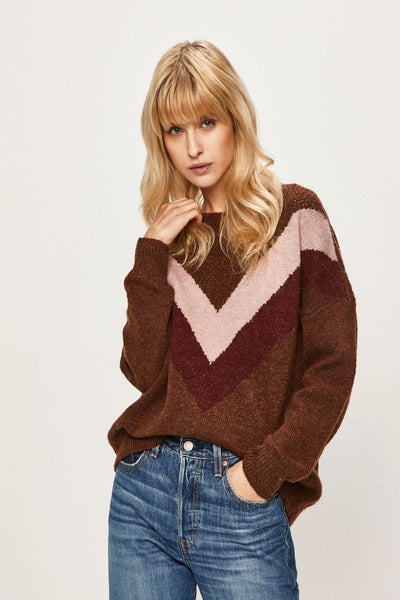 Only Choco Striped Pullover Knit
