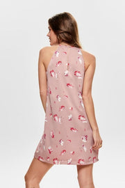 Only Pink Printed Sleeveless Dress - Troublemaker.gr