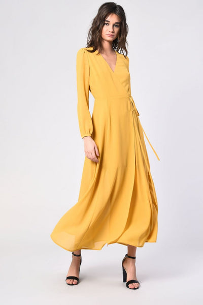Glamorous Yellow Maxi Dress - Troublemaker.gr