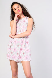 Glamorous Mint Pink Print Dress - Troublemaker.gr