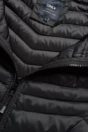 Only Black Quilted Nylon Coat - Troublemaker.gr