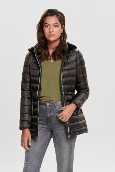 Only Demi Black Quilted Nylon Coat - Troublemaker.gr