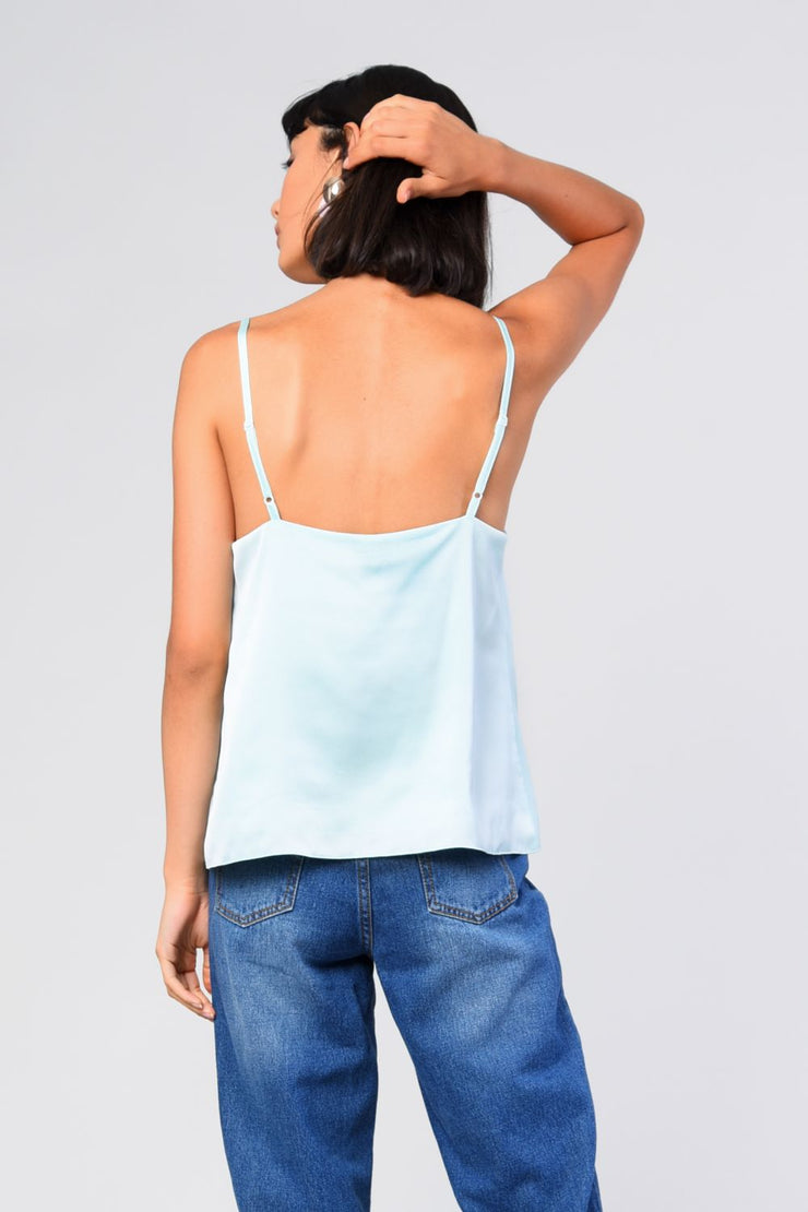Glamorous Mint Satin Top - Troublemaker.gr