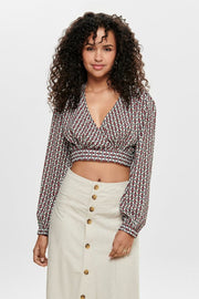 Only Emma Crop Wrap Top
