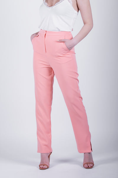 Glamorous Soft Coral Trousers - Troublemaker.gr
