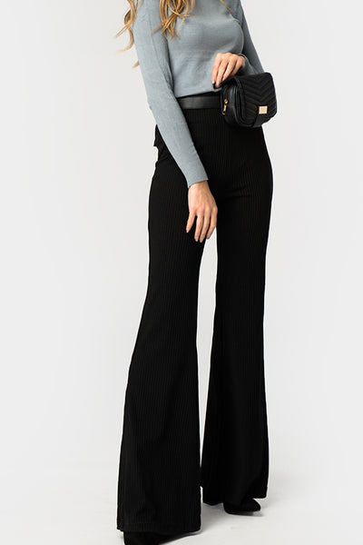 Black Ribbed Pants - Troublemaker.gr