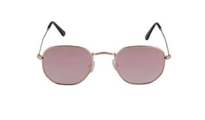 South Beach Rose Gold Rounded Lens Sunglasses - Troublemaker.gr