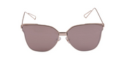 South Beach Rose Gold Cat Eye Flat Lens Sunglasses - Troublemaker.gr