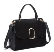 Black Velvet Shoulder Bag - Troublemaker.gr