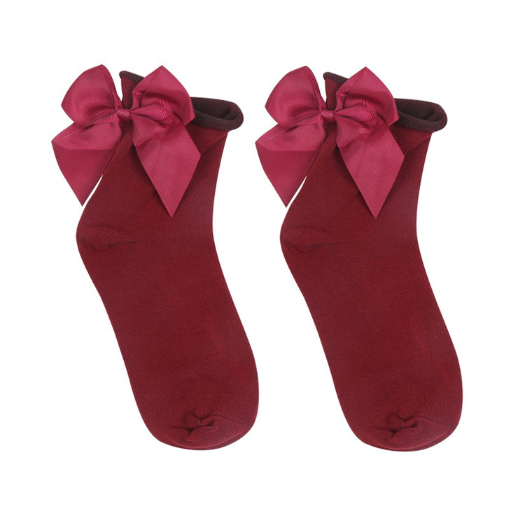 Red Cute Bow Socks - Troublemaker.gr