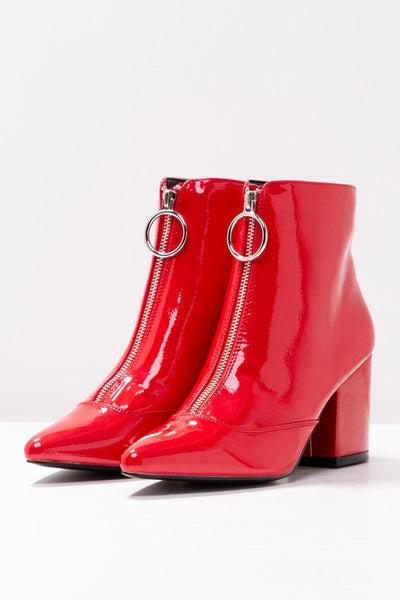 Red Heeled Ankle Boots - Troublemaker.gr