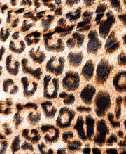 Leopard Print Velvet High Neck Mini Dress - Troublemaker.gr