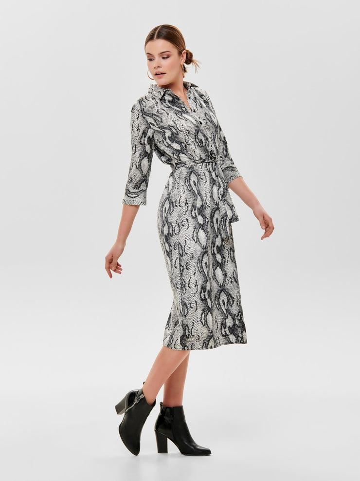 Only Snake 3/4 Shirt Dress - Troublemaker.gr