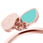 Rose Gold Double Hearts Ring - Troublemaker.gr