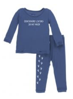 """DLIMH"" Branded Kickee Pants Long Sleeve PJ Set"