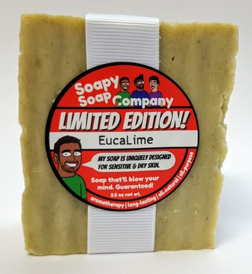 Limited Edition - Moisturize! - EucaLime Bar Soap (vegan, halal)