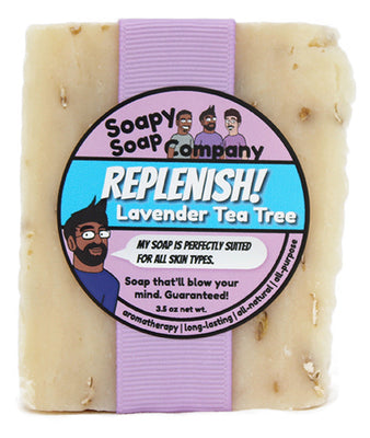 Replenish! - Lavender Tea Tree Bar Soap (vegan, halal)