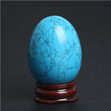 Natural Turquoise Crystal Egg