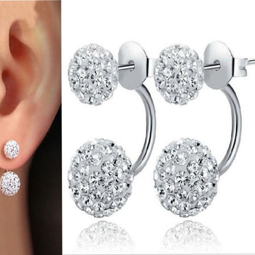 Austrian Zircon Crystal Hoop Earrings