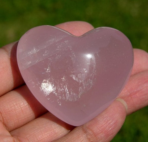 Beautiful Rich Pink Rose Quartz Crystal Heart