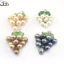 Natural  Freshwater Pearl Beads formed into grape pandant
