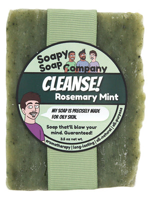 CLEANSE! - Rosemary Mint Bar Soap (vegan, halal)