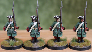 Russians Musketeers March Attack Tricorn