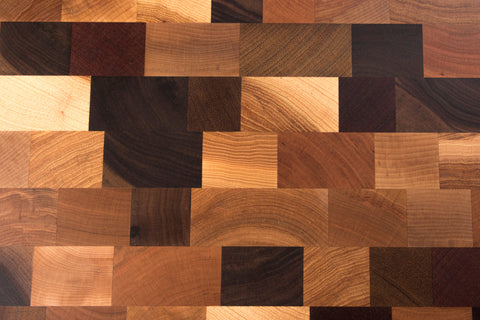 Mixed wood cutting board (end-grain)