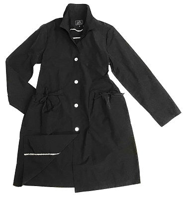 UBU 18107 Button Front Drawstring Pocket Trench