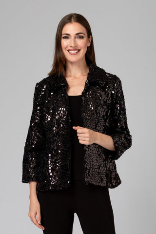 Joseph Ribkoff 194504 Metallic Scale Jacket