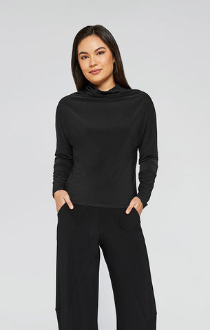Sympli 2021, 22218-3 Funnel Neck Dolman Sleeve