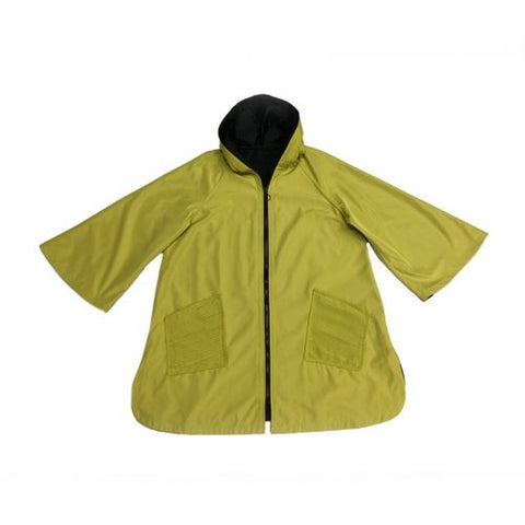 UBU 20104S, Reversible Raincoat, with Front Zipper and Pockets