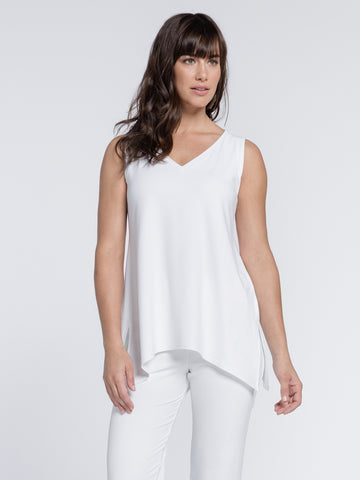 Sympli 2021, 21112R Sleeveless Go To Wide V-Neck T Relax