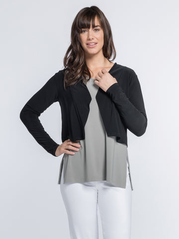 Sympli, Fall 2020 25114-3 Clip Shrug, Long Sleeves