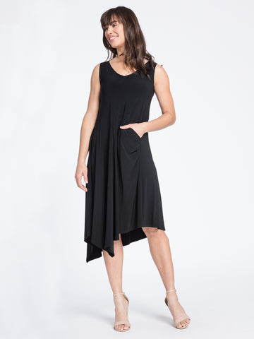 Sympli, Fall 2020 2888 Sleeveless Slant Pocket Dress