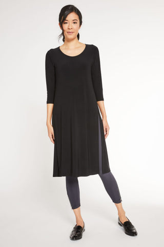 Sympli 2021, 2892-2 High Slit Over Under, 3/4 Sleeve