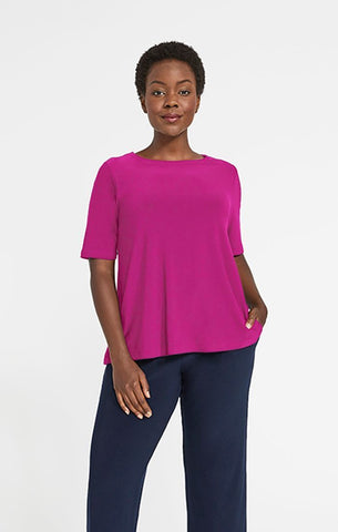 Sympli 2021, 22228-1 Trapeze Top, short sleeves