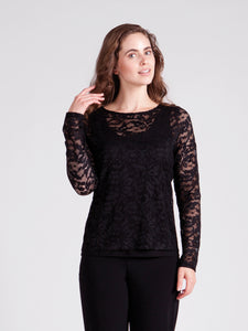 Sympli 3219 Lace Barely T Top