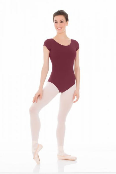 Mondor 3506 Matrix cap sleeve pinch front short sleeve leotard