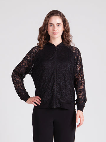 Sympli Sale, 3510 Lace Reversible Bomber Jacket