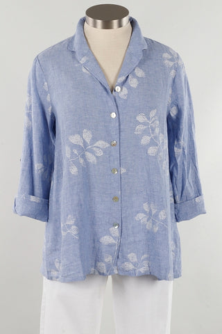 Habitat H43721 Button Sleeve Swing Shirt, Linen