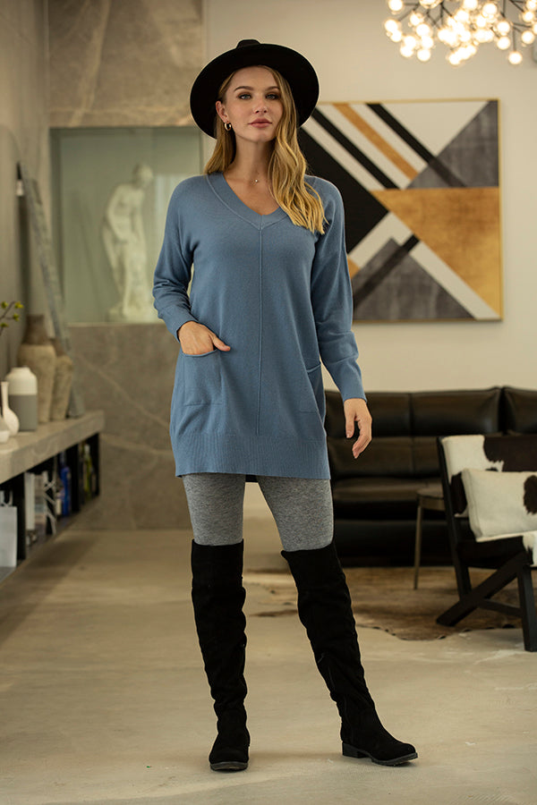 Orange by Fashion Village, Fall 2020, 5413 V-Neck Tunic with Front Pockets