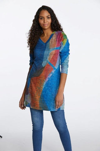 "Claire Desjardins Sale, 90243 ""Dancing In The Kitchen"" Soft Touch V-Neck Tunic"