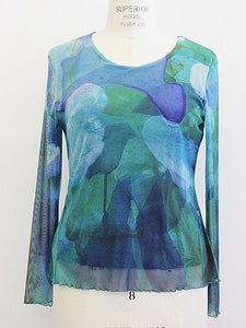 "Claire Desjardins Sale, 90257 ""When  Dusk Settles In"" Mesh Top"