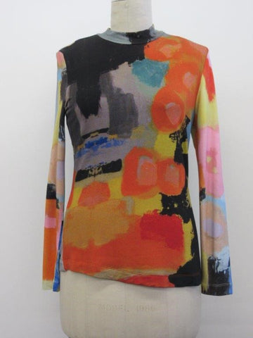"Claire Desjardins Sale, 90304 ""In The City"" Crew Neck Top, Long Sleeve"