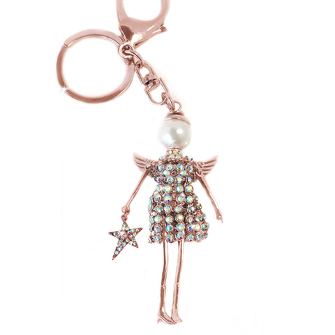 "JKKC124.RGAB Jacqueline Kent Angel Collection ""Angel Key Fob"""