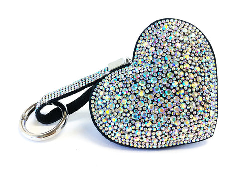"Jacqueline Kent JKKC110.ABSI Heart Purse Charms ""Keychain Ice Crystal Heart Purse Charm"""