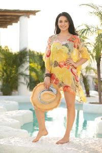 ORANGE BY FASHION VILLAGE K3 BEACH COVER UP